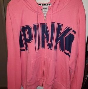 PINK victorias secret full zip jacket size Large